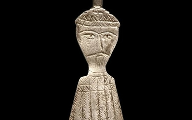 Byzantine Silver Spatula with Saint, c. 8th Century
