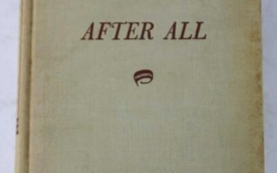 "CLARENCE DAY ""AFTER ALL"" FIRST EDITION"