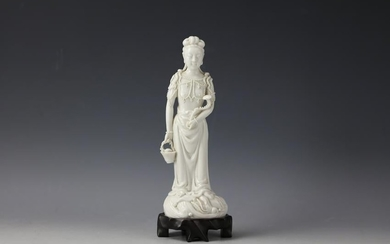 Chinese Dehua White-Glazed Figure of Guanyin
