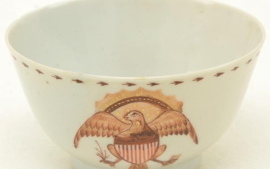 Chinese Export porcelain cup with American Eagle