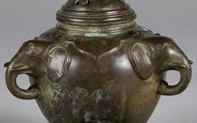 Chinese bronze censer and stand
