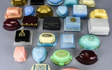 Collection Vintage Colored Celluloid Jewelry Boxes