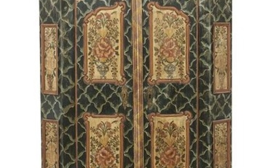 Continental Polychrome Armoire