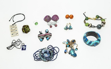 Costume Jewelry-Glass, Enamel, Clay, & More, 12