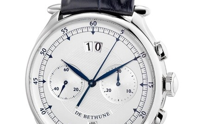 De Bethune, Ref. DB12WT A fine and attractive limited edition white gold chronograph wristwatch with date, month, certificate and box, numbered 002 of a limited edition of 12 pieces