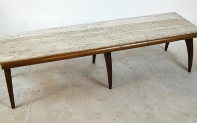 Dunbar Travertine Top Cocktail Table