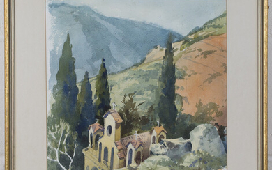 Eric William Pulford - 'Greece', watercolour and pencil, signed, titled and dated '74