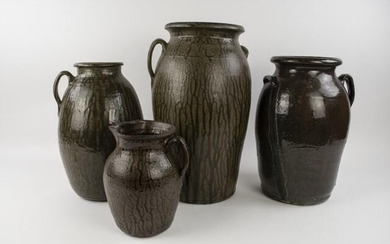 Four Pieces of Matthew Hewell Pottery