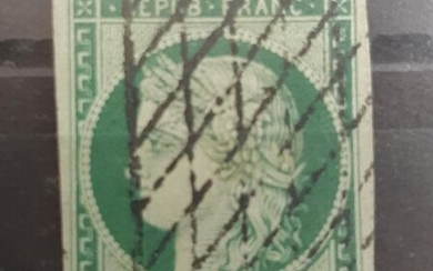 France N°2 - 15 centimes green