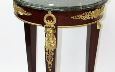 French Empire style marble top gueridon