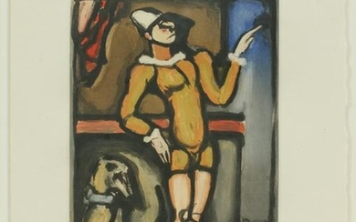 GEORGES ROUAULT COLOR AQUATINT ON PAPER