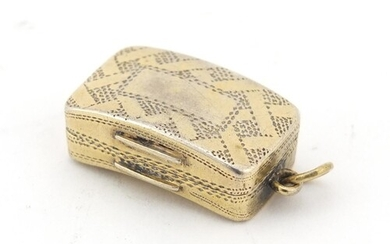 George III silver vinaigrette with gilt interior by Samuel P...