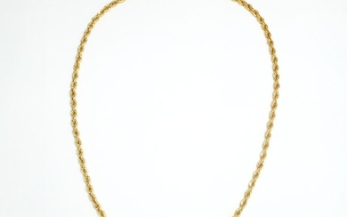 Gold Rope-Twist Necklace and Bracelet