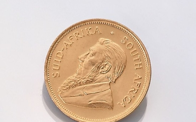 Gold coin, Krugerrand, South Africa, 1975 ,...
