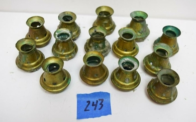 "Group of 14 Bove Candle Followers, 7/8"" Size Candle"
