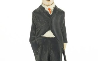 Hand painted bisque figure of Charlie Chaplin with