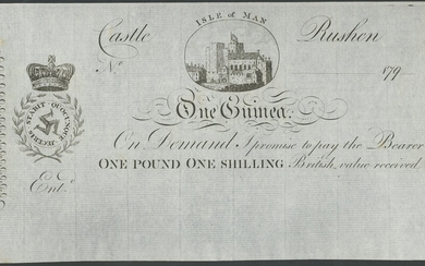 Isle of Man, Royal Manx Fencibles, unissued One Guinea, 179-, no serial number, (IMPM M201b, Q2...