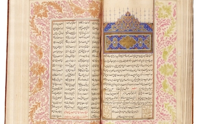 JALAL AL-DIN MUHAMMAD RUMI (D.1273 AD), THE SIX BOOKS OF THE MATHNAWI, SIGNED BY JAN MUHAMMAD SON OF KHIDR, PERSIA, SAFAVID, DATED 1029 AH/1620 AD