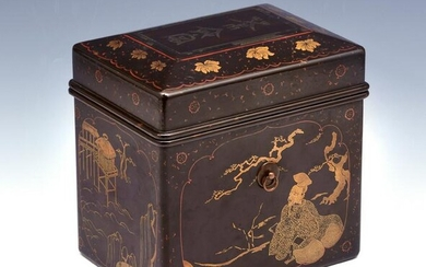 Japanese Lacquer Chabako (Tea Box), 16th/17th c