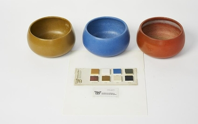 John Follis Bowls w/ Glaze Sample (4)