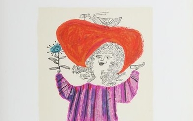 Judith Bledsoe, Petite Portrait - Big Red Hat