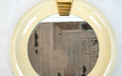 Mid-Century Modern Tesselated Bone Mirror