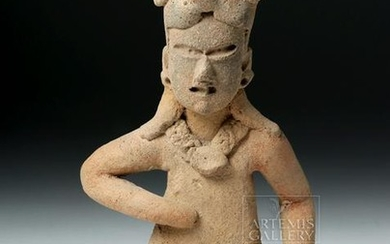 Olmec Pottery Seated Male Figure