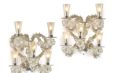 PAIR OF MODERNIST STYLE SCONCES