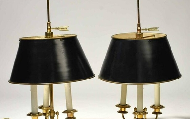 Pair of Brass Bouillette Lamps