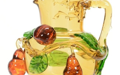 Pitcher, Stevens And Williams Amber Art Glass