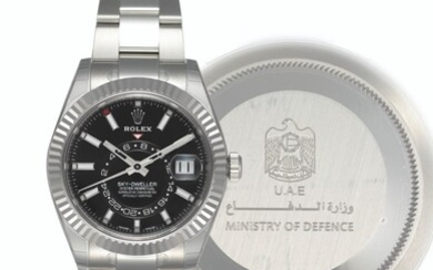 ROLEX, STEEL AND WHITE GOLD SKY-DWELLER, REF. 326934 - MADE FOR THE U.A.E MINISTRY OF DEFENSE, CASE NO. 7L335103