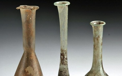 Roman Glass Unguentaria (Group of 3)