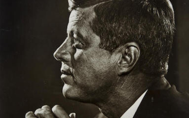 SIGNED JFK PROFILE PORTRAIT., KARSH, YOUSUF. 1908-2002.