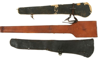 SPAN AM - WWII CAVALRY RIFLE HOLSTERS & SWORD CASE