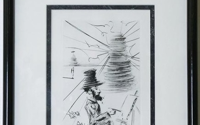 Salvador Dali Toulouse Lautrec Immortals Etching