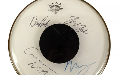 Signed CROSBY STILLS NASH YOUNG Band Drum Head
