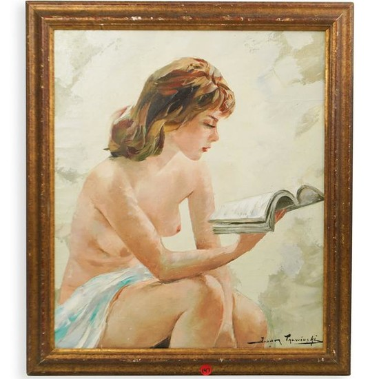 Vivian reed oil painting on canvas of seating nude woman