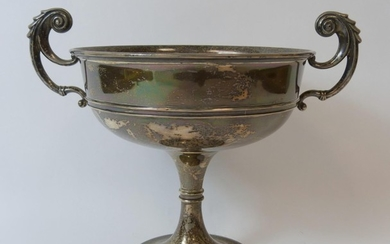 Silver two handled shallow cup '----Gift of the Mercers' Com...