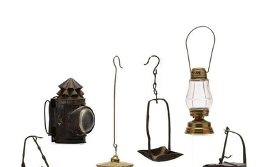 Six Antique Lamps / Lanterns