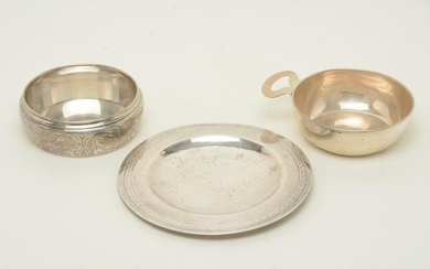 Sterling silver tableware including Tiffany and