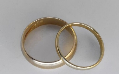 TWO ALLIANCES yellow gold. Weight 6,2 g