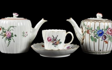 Three items of Worcester polychrome porcelain