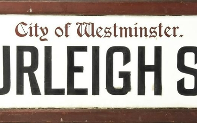 Vintage English Lucite Westminster Street Sign