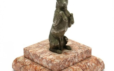 Vintage Table-Top Statue of a Begging Dog