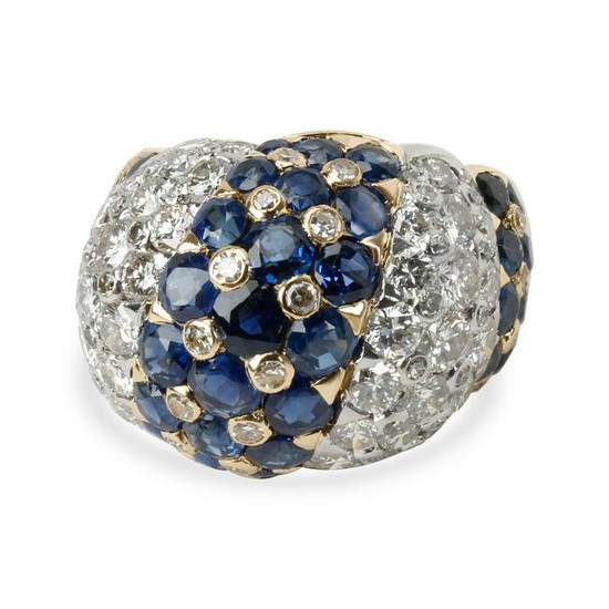 Vintage Tiffany & Co. Domed Diamond Sapphire Ring in