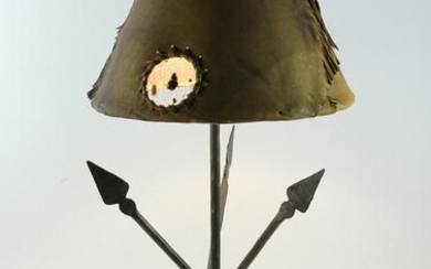 Wrought Iron Indian Arrow Lamp with Shade