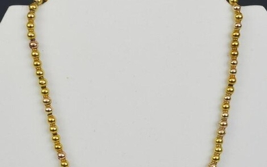 14k Gold Ball Bead Necklace