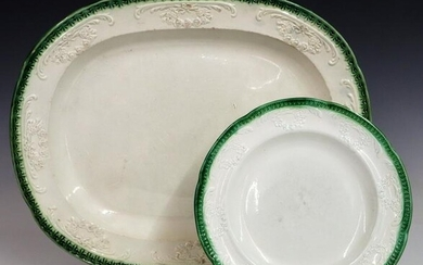 2 Ironstone Serving Pieces