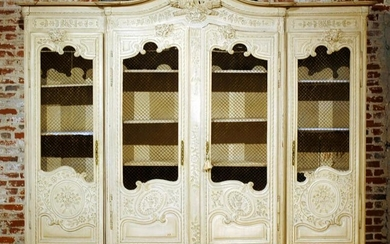 3-PART CARVED FRENCH MARRIAGE ARMOIRE C.1880