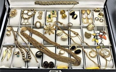 [30] Assorted Costume Designer Gold Tone Jewelry
